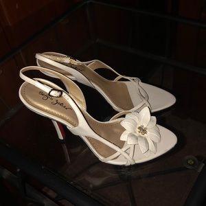 Ivory evening sandal